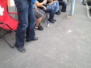 Flashmob vor dem Pub. 2012.